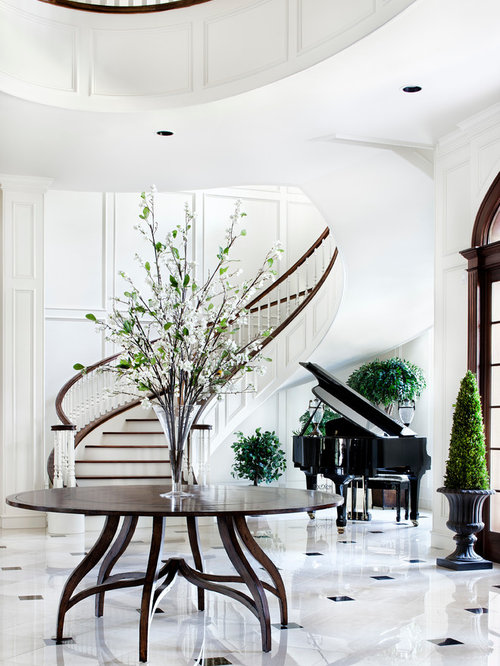 House Plans With Round Foyer : Round entry table houzz