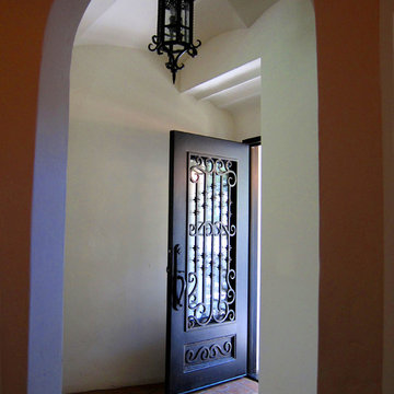 Spanish Colonial Revival Entry Foyer and Plaster Ceiling