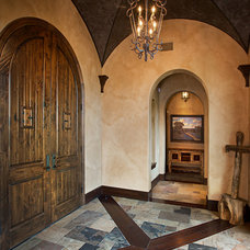 Rustic Entry by Jim Boles Custom Homes