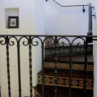 Spanish Style Staircase in Santa Barbara, California