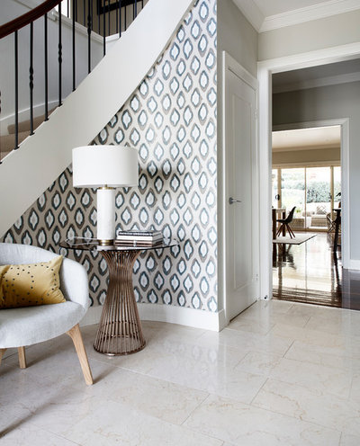 Transitional Entrance by Libby Winberg Interiors