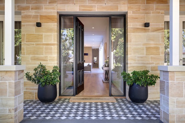 Contemporary Entry by Stallard Interiors