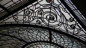 Stained and leaded glass dome skylight