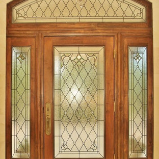 Stained Glass Transom and Sidelights