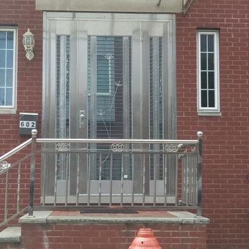 Stainless Steel Entry Door-Exterior