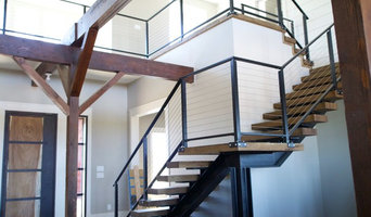 Staircase and railings for the barn at walnut hill