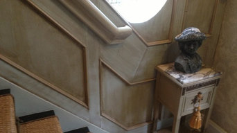 Stairwell paneling and finish.