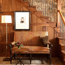 Rustic Entry by Robert Brown Interior Design