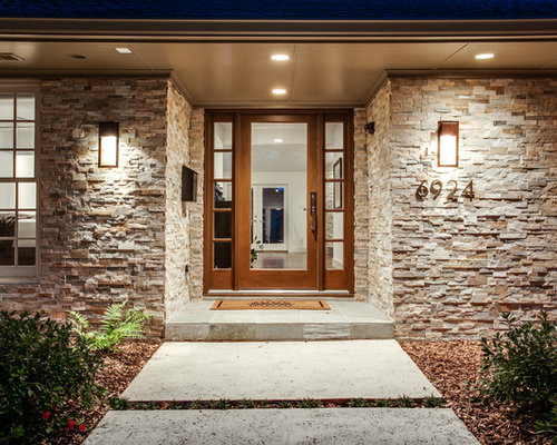 Granite Front Elevation Of House : Stone front elevation houzz