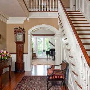 Example of a classic entryway design in Philadelphia with beige walls
