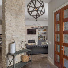Contemporary Entry by Greenbelt Construction