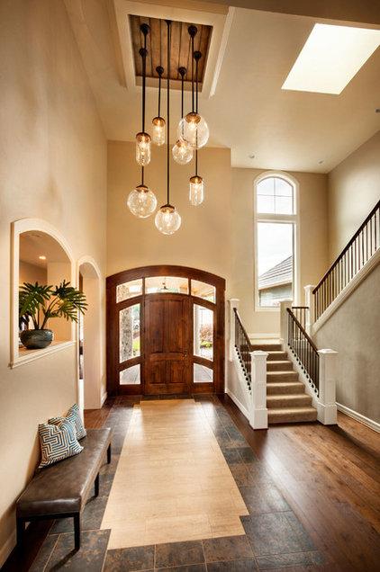 Transitional entry by garrison hullinger interior design inc