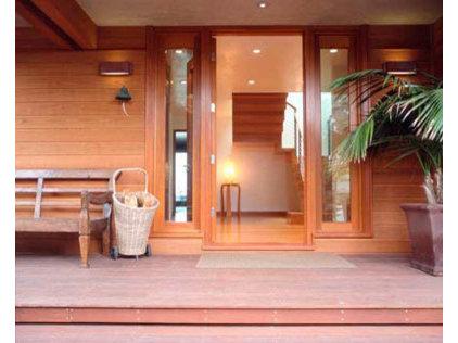 Modern Entry by David Hertz & Studio of Environmental Architecture