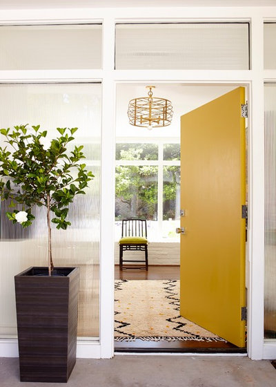 Contemporary Entry Stylish North Carolina Rancher as seen in Southern Living