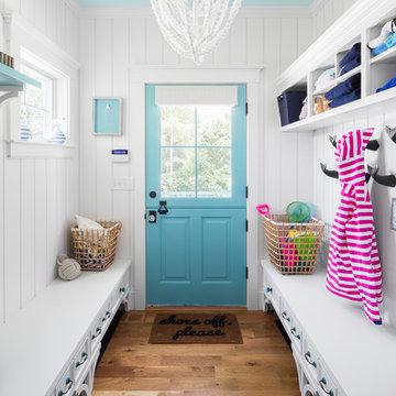 Summer House In Blue Custom Home - Mudroom