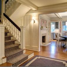 Transitional Entry by Rinaldi Interior Design