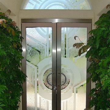 Sun Odyssey Glass Entry Doors with Transom Window