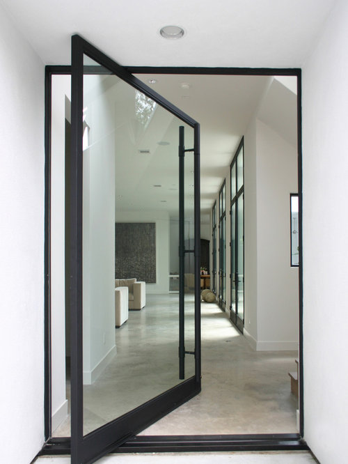 Modern glass entry doors home design ideas pictures for Residential front doors with glass