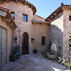 Mediterranean Entry by Linda Seeger Interior Design