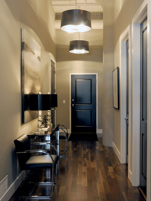 Superior Inspiration For A Transitional Dark Wood Floor And Brown Floor Entryway  Remodel In Other With Gray. Save Photo. Atmosphere Interior ...