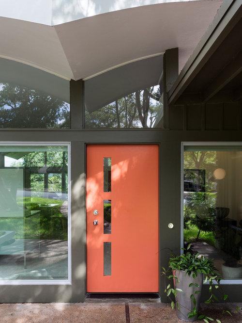 Creative door handle home design ideas pictures remodel for 1950s front door designs