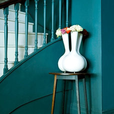 Eclectic Entry Teal hallway