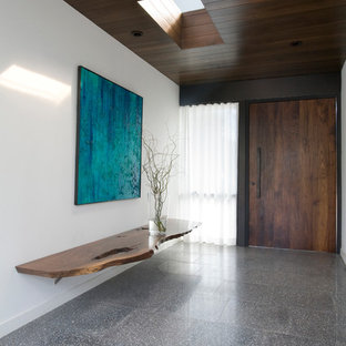 Moderner Eingang mit Betonboden in San Diego