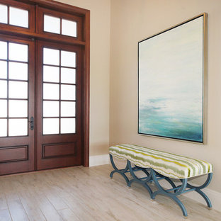 Inspiration for a coastal entryway remodel in Miami