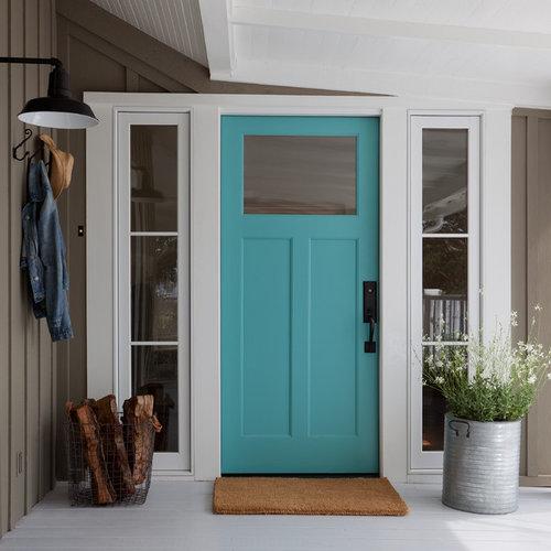 50 Santa Barbara Entryway With A Blue Front Door Design Ideas