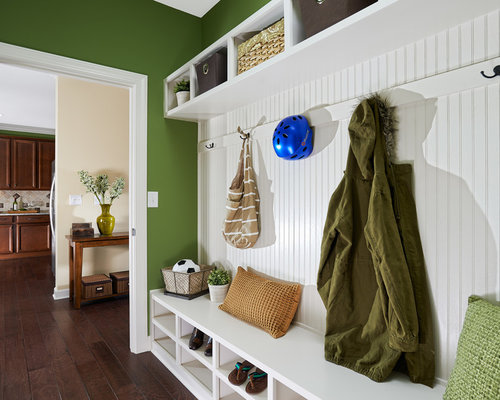example of a classic mudroom design in charlotte