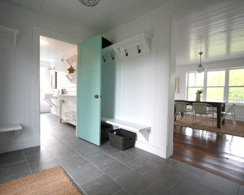 Tiled Mudroom Houzz