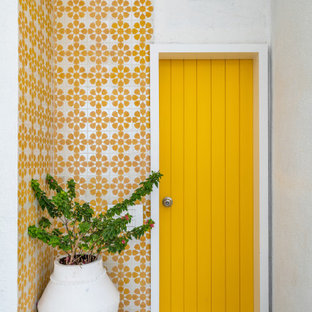 The yellow door pent house design by between walls pune