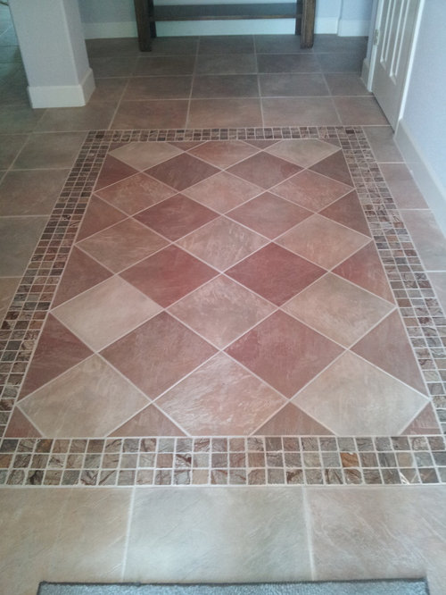 Residential porcelain tile entryway design ideas pictures for Front foyer tile designs