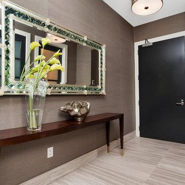 Titanium Lofts Residence Entry, Bar & Powder Room