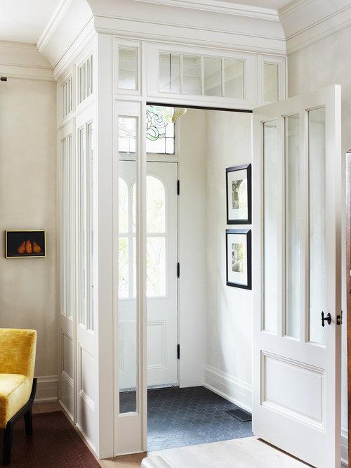 White Entry Door Houzz