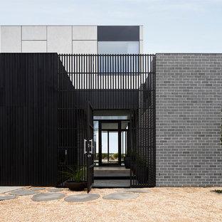 Design ideas for a contemporary entryway in Geelong.