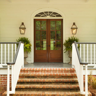 Front Porch Curved Brick Steps | Houzz
