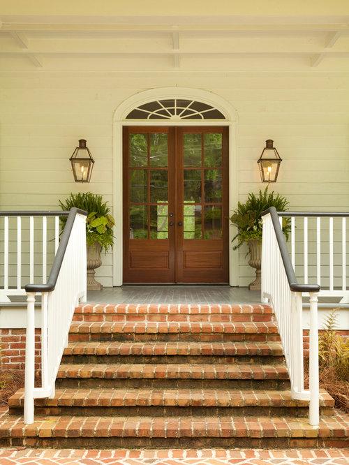 Front Door Step front door step 90 degree with rail | houzz