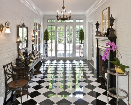 Delightful Black And White Marble Floors Houzz