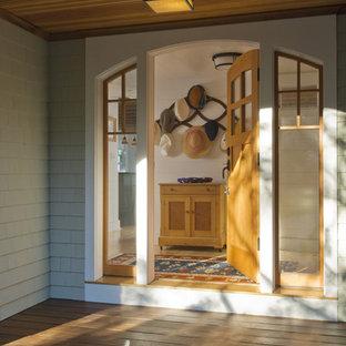 Elegant entry hall photo in Portland Maine