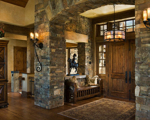stone entry home design ideas pictures remodel and decor. Black Bedroom Furniture Sets. Home Design Ideas