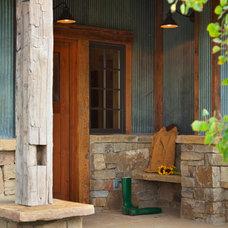 Farmhouse Entry by StoneHorse Design, Inc.