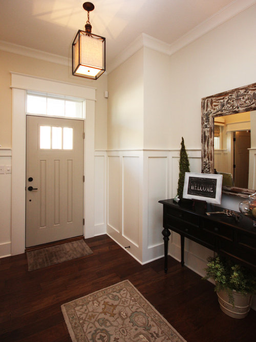 Black interior doors with white trim - Sherwin Williams Natural Choice Houzz