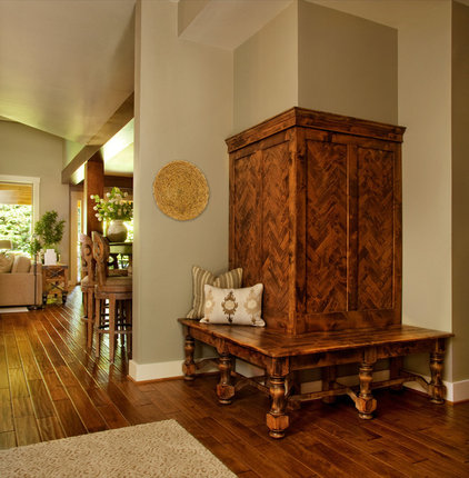 eclectic entry by Garrison Hullinger Interior Design Inc.