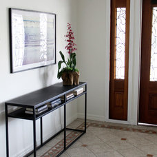 Transitional Entry by Baiyina Hughley Interior Design