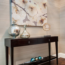 Transitional Entry by McBrien Interiors, Allied ASID