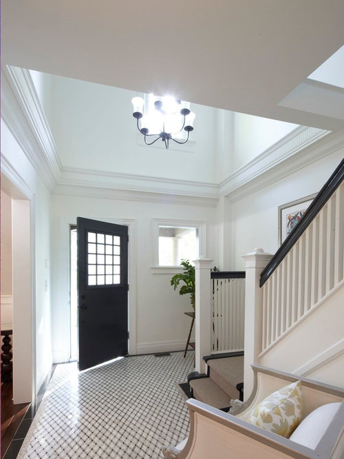 Two Story Foyer Paneling : Two story foyer houzz
