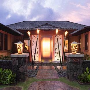 Island style entryway photo in Hawaii