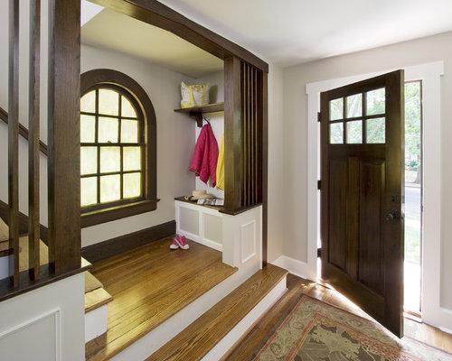Dark doors white trim houzz for White interior doors with wood trim