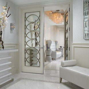 Inspiration for a contemporary entryway remodel in Miami